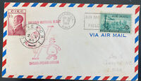 1954 Chicago IL Usa first flight Airmail cover FFC To Limerick England