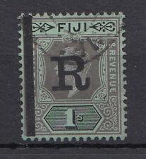 FIJI KGV Revenue 1/- OVP 'R' F/used C537