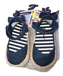 Garanimals Infant Girls Casual Navy  Canvas Shoe  Size 3