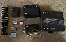 Canon PowerShot G7 X Digital Camera 8.8 - 36.8 MM 2 Spare Batteries 32gb SD Lot