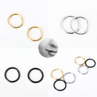 2pcs Magnetic Seamless Nose Ring Piercing Hoop Ear Cartilage Earrings Clips HOT