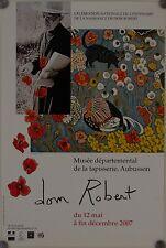 Affiche Centenaire DOM ROBERT Tapisseries Exposition Musée Aubusson