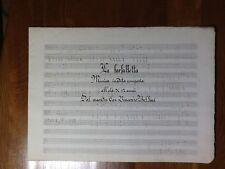 800/900 LA FARFALLETTA - MUSICA INEDITA COMPOSTA A 12 ANNI DAL CAV. V. BELLINI