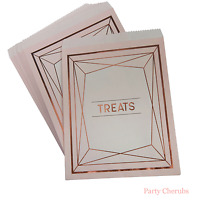 Rose Gold Candy Bags x 25  - Wedding Candy Buffet / Party Bags