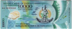 Vaniatu 10000 Vatu 2010 🔸UNC🔸 P-16 Polymer Banknote - k166