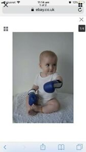 Wearable Baby Boxing Gloves Full Blue