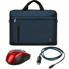 Navy Blue Laptop Shoulder Bag For HP 15-F211WM 15.6-Inch/HP Pavilion +MOU+Cable