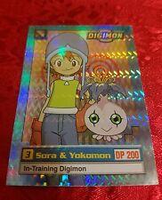 Bandai Digimon Trading Card 6 of 34 Sora & Yokomon Holo