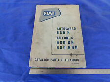 CATALOGO PARTI DI RICAMBIO ORIGINALE CAMION FIAT 680 N AUTOBUS 680 RN RNU 1953