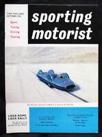 SPORTING MOTORIST MAGAZINE OCT 1960 - ITALIAN GRAND PRIX, MASERATI TIPO 60