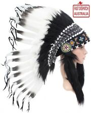 Indian Headdress Native American Black And White War Bonnet...unique & cheapest