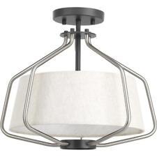 Progress Lighting Hangar Collection 2-Light Brushed Nickel Semi-Flushmount