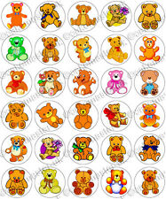 30 x Teddy Bears Party Edible Rice Wafer Paper Cupcake Toppers