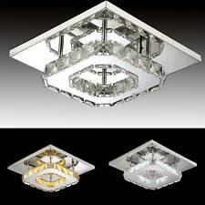 Modern LED Crystal Ceiling Light Minimalist Kitchen Living Room Entrance Lamp UK