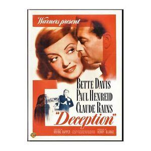DECEPTION [1946] Bette Davis & Claude Rains & Paul Henreid & Irving Rapper