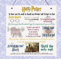 Plaque Harry Potter Movie Quotes Wizards Hogwarts Ron Hermione Dumbledore Sign