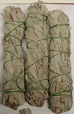 """White Sage Smudge Stick 3pk 3"""" Pagan Witchcraft Wiccan Ritual Altar Supply"""