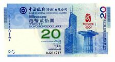 Hong Kong ... P-340 ... 20 Dollars ... 2008 ... *UNC* ... With Holder