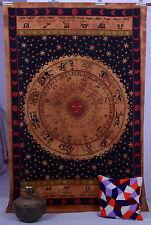 Gemelo De La Astrología India Pared Arte Del Tapiz Que Cuelga Colcha Mandala