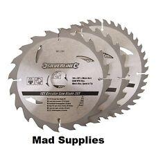 3pk TCT Circular Saw Blades 184mm  20, 24, 40 Tooth