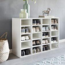 Schuhschrank DARIO Holz 20 Paar Schuhe Schuhregal Schuhkommode Flurschrank Weiß