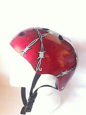 Bicycle Helmet Red Barb Wire Cycling Skateboard Scooter