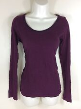 American Eagle Size 6 8 10 Medium T Shirt Top Knit Long Striped Red Pink Purple