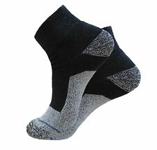 4 Pk ANKLE 2 INCH TOP PREMIUM QUALITY HEAVY SOCKS COTTON BLACK GRAY SIZE 10-13
