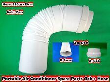 Portable Air Conditioner Spare Parts Air Exhaust Passage(Gob)+Hose 2 pcs/set NEW