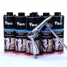 6 Liter Unterbodenschutz Bitumen schwarz plus 1UBS Spritzpistole  Autolack/E0016