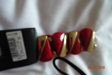 DOROTHY PERKINS RED/GOLD  EXPANDABLE BRACELET CLEARANCE