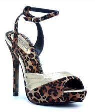 Open Toe Animal Print Medium (B, M) 8 Heels for Women
