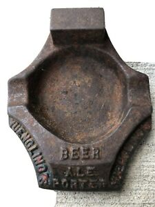 Vintage YUENGLING POTTSVILLE PA Beer Cigarette Cigar Tobacco Cast Iron Ash Tray