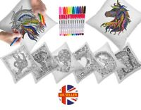 DIY Graffiti Pillow Cushion Covers With 12 Colouring Pens (8 Fantastic Designs)