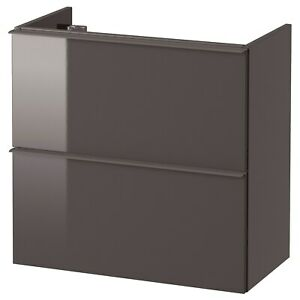 """IKEA GODMORGON SINK CABINET WITH 2 DRAWERS HIGH GLOSS GREY 23 5/8x12 5/8x22 7/8"""""""