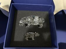 SWAROVSKI HIPPO MOTHER & BABY 5135920 NEW