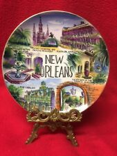Vintage Colorful New Orleans Souvenier Plate Mfg Sons Co. Japan