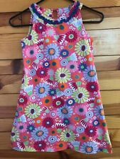 Hanna Andersson Pink Floral Dress Ruffled Girls Size 120 6X-7