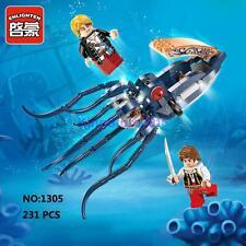Enlighten Pirates Legendary 1305 Blue Squid Animal Figure DIY Building Block Toy