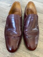 Vintage Loake Cavendish Slip On Shoes Uk 11 E Maroon