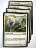 MTG Magic Played Cards: SILVERCOAT LION x4 # 8B2