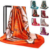 """Exquisite Women's Print Square Scarf Satin Office Head Shawl Scarves 35""""*35"""""""