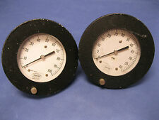 """LOT OF 2 DANTON GAUGES - 6.25"""" FACE - 0 to 60 PSI, 0 to 100"""