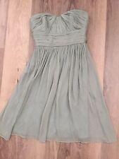 NEW J.CREW SILK CHIFFON DRESS DUSTY SHALE GREEN BRIDESMAID COCKTAIL 00, XS