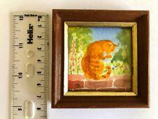 Miniature Original Watercolour by Peter Basham.