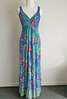 Jays Jays Vintage 90s does 70s Maxi Empire Waist Sleeveless Dress Size 16