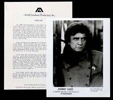 1980's Vintage JOHNNY CASH Press Kit Bio & Publicity Photo for STAGECOACH Film