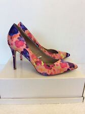 Neuf Dorothy Perkins Rose Chaud Wink Multicolore Satin Talons Taille 7/41