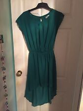 ADL Jade Green Short Front Long Back Dress - Medium Size