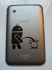 "1 x Android Wee on Apple Decal - Vinyl Sticker for Samsung Galaxy Tab 7"" Note"